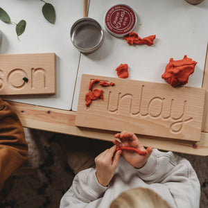 Cursive Wooden Name Board