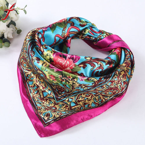 Fashion 4 Colors Square Scarf Women Lady Floral Printed Head Glamorous Wrap Shawl Cashmere Scarf#LSN