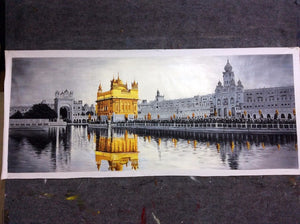 High Quality Original The Golden Temple Amritsar Oil Painting on Canvas Home Decor The biggest Sikh Temple Building Landscape