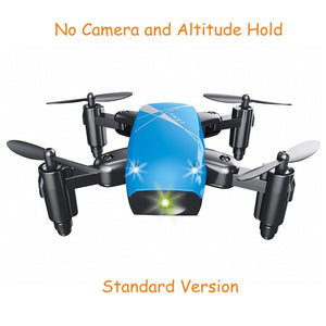 S9HW Mini Drone With Camera S9 No Camera RC Quadcopter Foldable Drones Altitude Hold RC Quadcopter WiFi FPV Pocket Dron VS CX10W