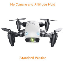 Load image into Gallery viewer, S9HW Mini Drone With Camera S9 No Camera RC Quadcopter Foldable Drones Altitude Hold RC Quadcopter WiFi FPV Pocket Dron VS CX10W