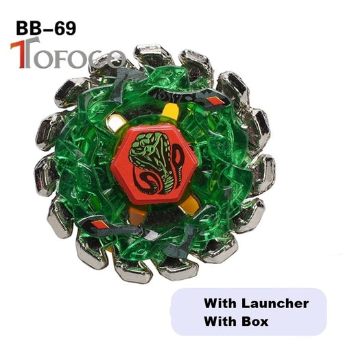 TOFOCO 4D Burst Toupie Beyblade Snake Set Toys For Sale Metal Fusions For Boy Kids Launcher Anime Spinning Top Fight Cool Green