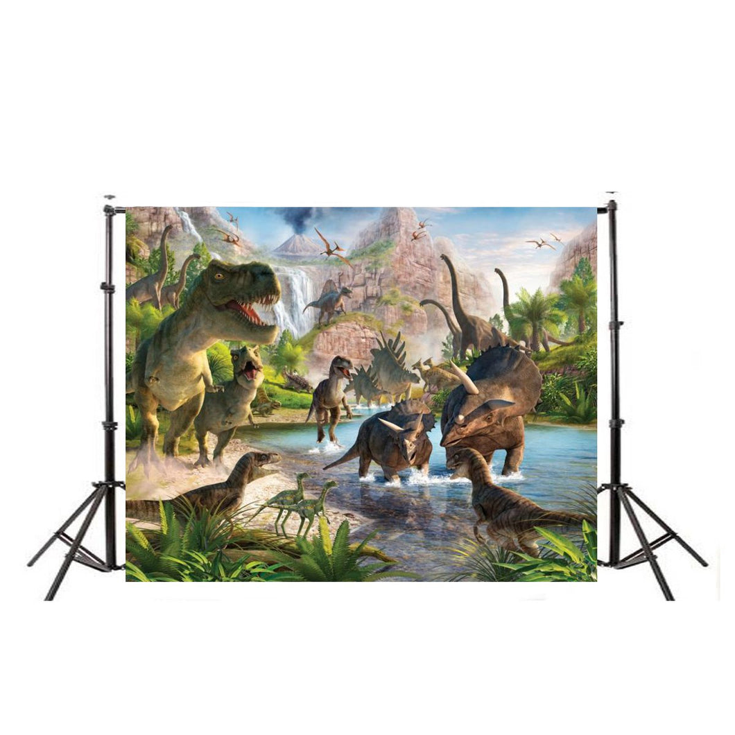 2018 New Arrival Dinosaur Vinyl Photography Backgrounds Studio Props Backdrops Decoration 7X5FT - Stuff Mart Canada