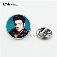 Load image into Gallery viewer, 2017 New Arrival Elvis Presley Collar Pin Handmade Glass Dome Rock Music Singer Jewelry Stainless Steel Lapel Pin Brooches - Stuff Mart Canada