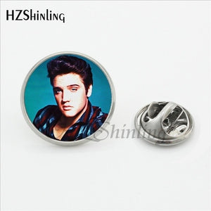 2017 New Arrival Elvis Presley Collar Pin Handmade Glass Dome Rock Music Singer Jewelry Stainless Steel Lapel Pin Brooches - Stuff Mart Canada