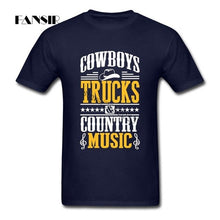 Load image into Gallery viewer, Cowboys Trucks Country Music Camisetas New Style Men's T Shirts Short Sleeve Cotton O-neck T-shirt For Man - Stuff Mart Canada