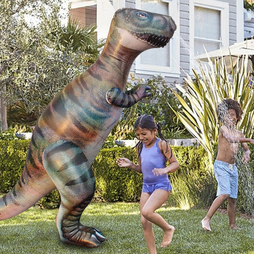 1.8M Dino Grass Water Sprayer Sprinkler Kids Inflatable Pool Toys Outdoor Sports Ginormous T-Rex Dinosaur Yard Sprinkler Splash