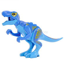 Load image into Gallery viewer, Single Sale Jurrassic Legoingly Jurassic Dinosaur World Set Velociraptor Blue T-Rex Building Blocks Sets Model Toys for Children - Stuff Mart Canada