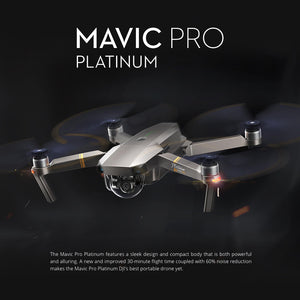 Original DJI Mavic Pro Platinum Foldable Obstacle Avoidance Drone FPV RC Quadcopter with 4K Camera OcuSync Live View System