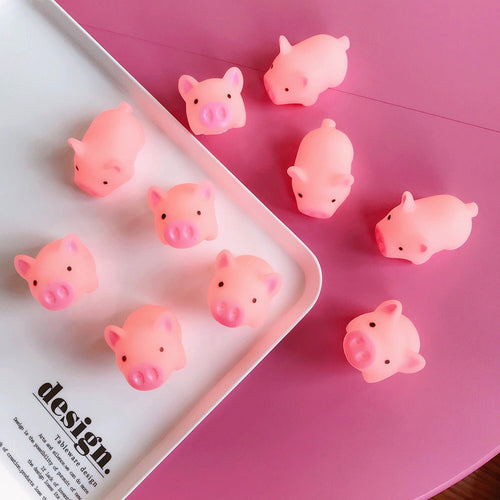 1 Piece Squeeze Pig Mochi Squishy Kawaii Animal Slow Rising Squishy Toy Anti-strss Practical Jokes Kids Squishies Cute Toy P0