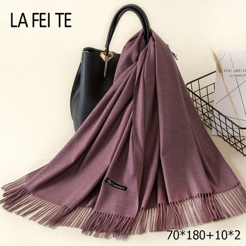 Lic Cashmere Women Scarf Warm Shawl Foulard Femme Pashmina Kerchief Wool Stole Head Neck Long Winter Scarf Women For Ladies 2018