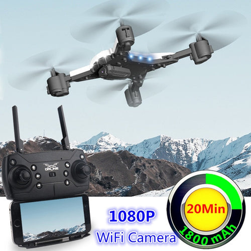 New RC Drone with Camera 1080P Selfie Drones with Camera HD Foldable Quadcopter Quadrocopter with Camera Fly 18 Mins VS E58