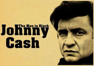 Retro poster Johnny Cash Country Music Singer Wall Sticker vintage style poster Home Wall Decoration - Stuff Mart Canada