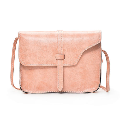 New Vintage Women Crossbody Bag Flap Over Belt Front Messenger Shoulder Bag PU Leather Small Bag