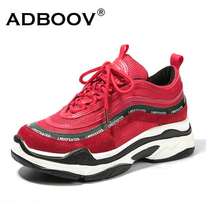 ADBOOV New Vintage Women Sneakers Trendy Leisure Platform Shoes Cross-tied  Breathable Casual Shoes Woman Zapatillas Mujer f0b966d7c651