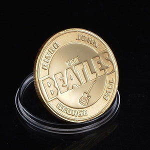 Famous Music Rock Band The Beatles Gold Plated Commemorative Coin Token - Stuff Mart Canada