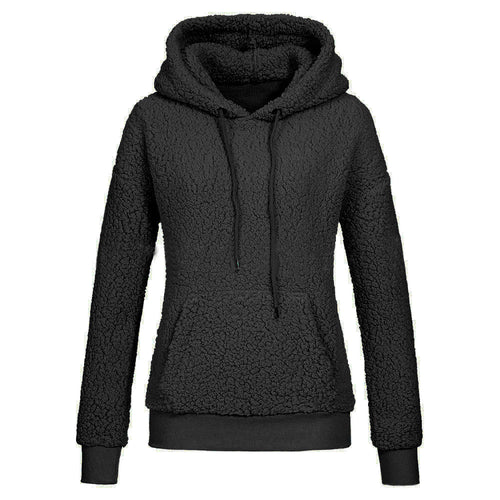 Fashion ladies girls sweatshirts Womens Winter Long Sleeve Solid Patchwork O Neck Sweatshirt Casual Hooded Blouse sportwear