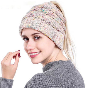 0fc01086f129c 2018 Winter Hats for Women New Beanies Knitted Solid Cute Hat Girls Autumn  Female Beanie Caps Warmer Bonnet Ladies Casual Cap
