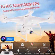 Load image into Gallery viewer, SJ R/C S20W1080P(GPS) FPV Adjustable 1080P 5G Wifi HD Camera Wide Angle RTF GPS Positioning Altitude Hold Quadcopter Drone