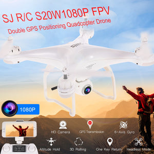 SJ R/C S20W1080P(GPS) FPV Adjustable 1080P 5G Wifi HD Camera Wide Angle RTF GPS Positioning Altitude Hold Quadcopter Drone