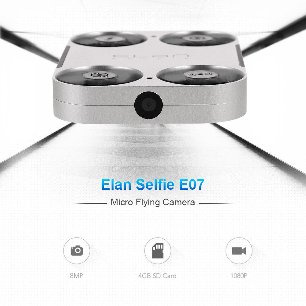 Elan Selfie E07 8MP HD Camera Wifi FPV Drone Optical Flow Positioning Micro Brushless G-sensor Quadcopter