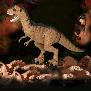 Dinosaur Electronic Toy Moving & Walking Sounds & Chomping Mouth LED Light Up - Stuff Mart Canada
