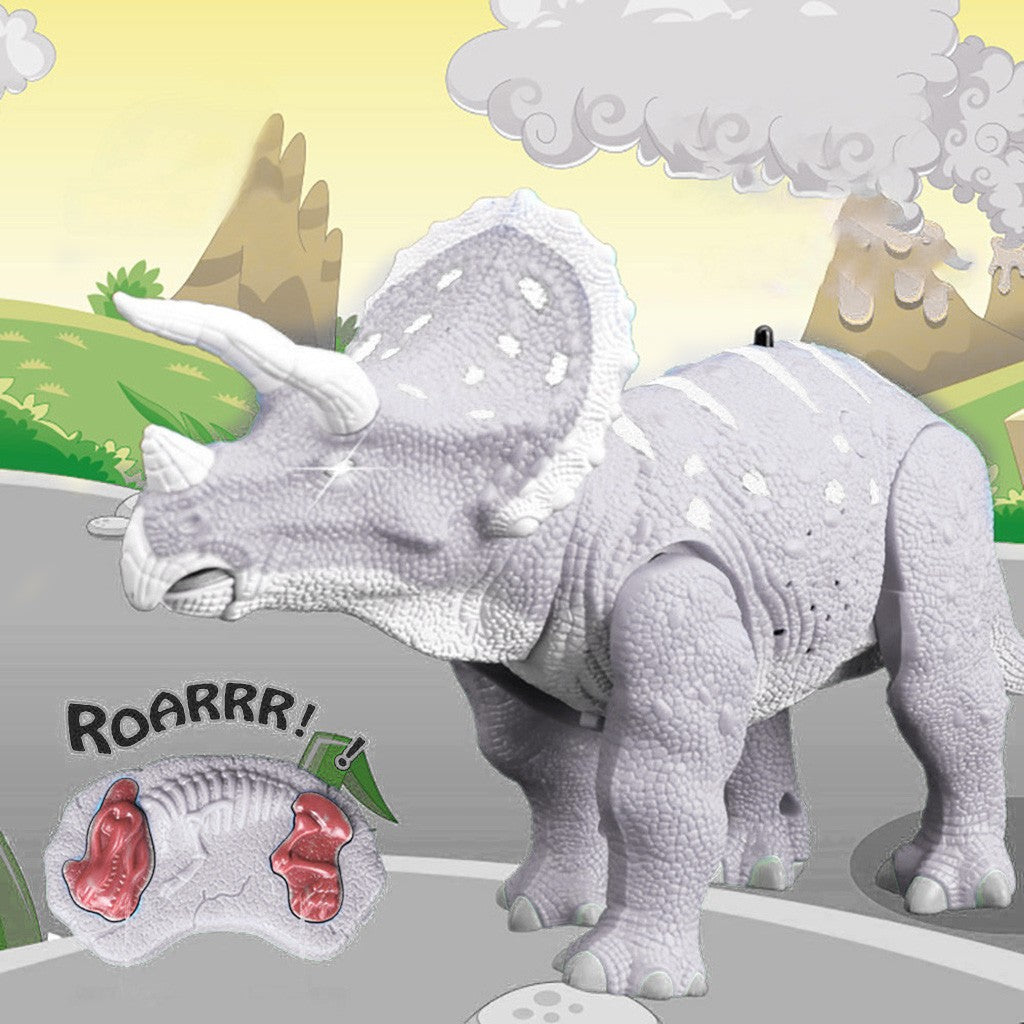 Glowing Eyes 14inc RC Dinosaur Walking Robot w/ Roaring Sounds Life-Like Motion - Stuff Mart Canada