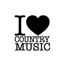 Load image into Gallery viewer, QYPF 14CM*14CM Fashion I Heart ( love ) Country Music Decal Black Silver Vinyl Car Sticker Decor C15-3154 - Stuff Mart Canada