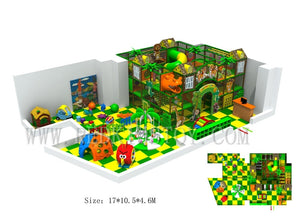 Shipped to South America Jungle Theme With Dinosaur Head Electric Children Indoor Playground With Three Floors - Stuff Mart Canada