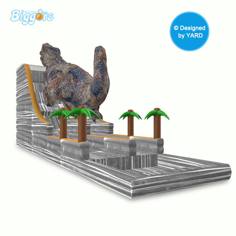 New Design Big Size Dinosaur Shape Inflatable Slide Water Slide With Pool With Free Blower - Stuff Mart Canada