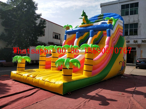 (China Guangzhou) Factory direct inflatable slide / castle / trampoline / pool slide / small dinosaur slide YLY-031 - Stuff Mart Canada