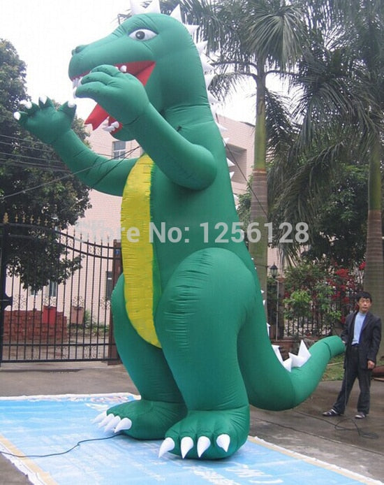 6 m H Green Stegosaurus Giant Inflatable Godzilla For Advertisement