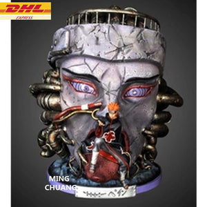 "20.87""Statue NARUTO Pein Bust Pain Akatsuki Head Portrait Resin Action Figure Collectible Model Toy 53CM BOX D911"