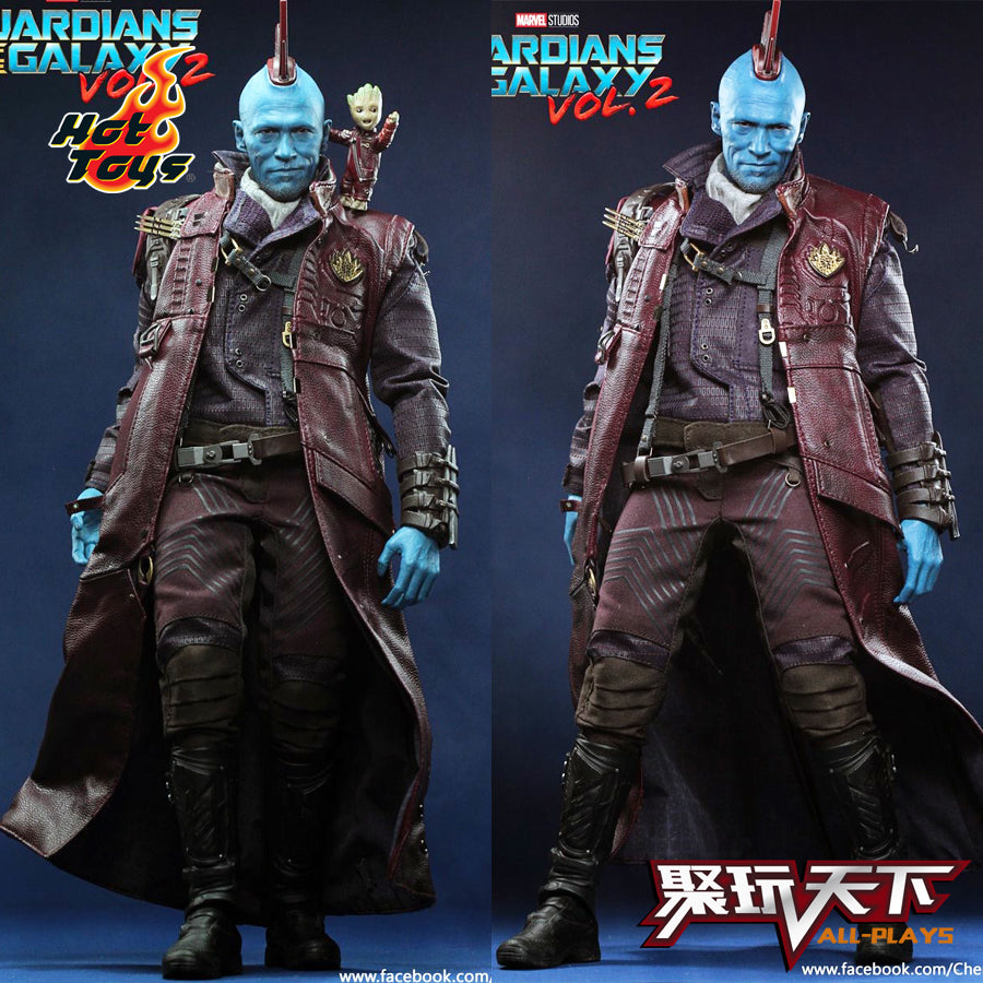 HotToys 30cm Figurine Marvel Guardians 0f The Galaxy - Yondu Udonta 1:6 Toy Collectible Figure Doll Model Toy Gifts