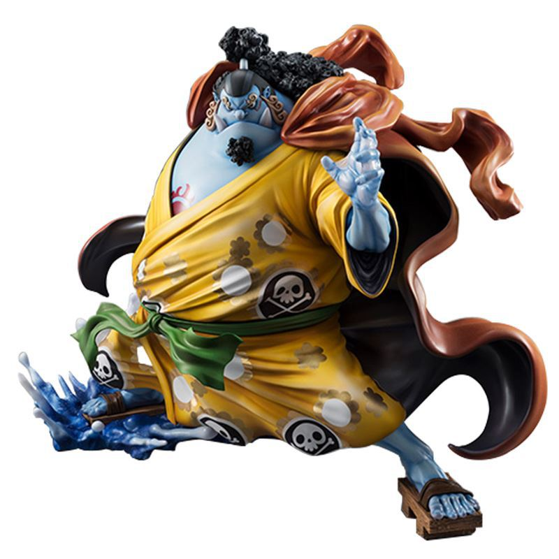 One Piece Action Figure Anime Model Jinbe Dolls Decoration Classic Collection Figurine Christmas Toys for Gifts 25cm