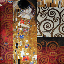 Load image into Gallery viewer, Gustav Klimt Kiss Painting Reproductions On The Wall Classical Kiss Famous Wall Art Canvas Posters For Living Room Cuadros Decor