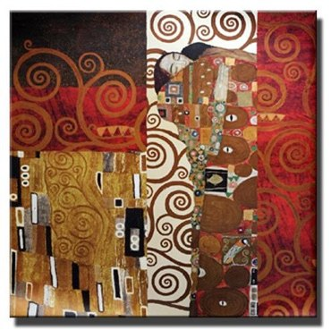 Gustav Klimt Kiss Painting Reproductions On The Wall Classical Kiss Famous Wall Art Canvas Posters For Living Room Cuadros Decor