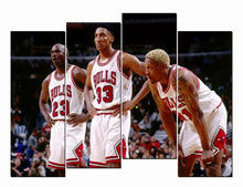 Load image into Gallery viewer, HD Art Canvas Printings Poster Michael Jordan Scottie Pippen Dennis Rodman