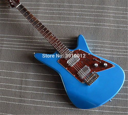 Factory customization MusicMan Albert Lee Double Rock Electric Guitar Metal Blue Can customize other colors