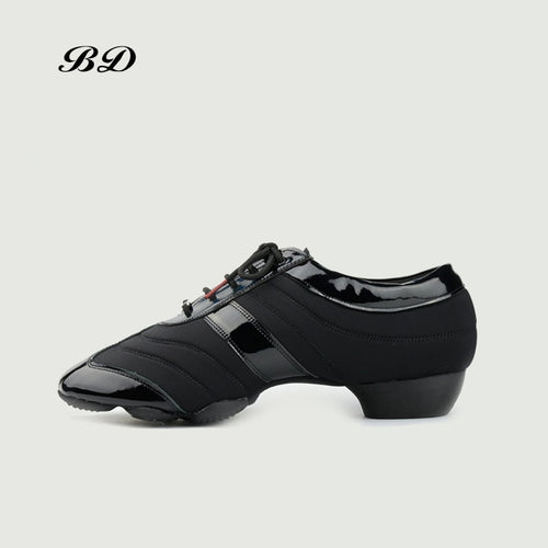 BD JW-3 Dance Shoes Ballroom MEN Women Latin shoes Dancing BDDANCE Authentic Imported Spandex Patent Leather High-end Modern HOT