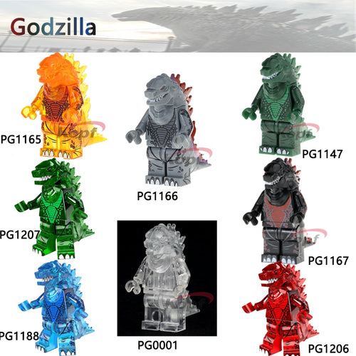 Single Sale Super Heroes Ice Lava Godzilla American Science Fiction Monster Movie Bricks Model Building Blocks Toys for children