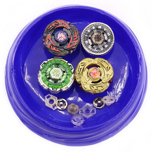 Hot Beyblade Burst Set (4 Bayblades+2 Launchers+1 Handle +1 Stage) Metal Fusion 4D Rapidity Master Fight Rare Spinning Top #E