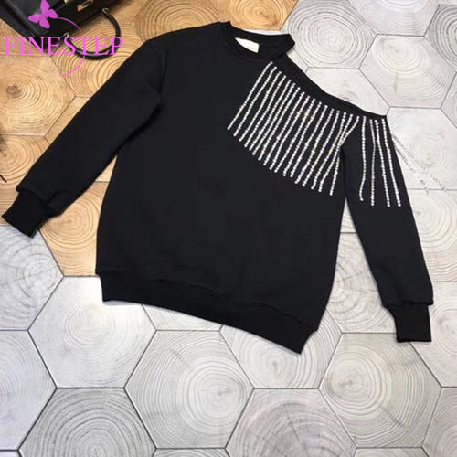 Casual Sweatshirts For Women 2019 Autumn Winter Fashion Pullovers Black Long Sleeve  Hoodies Tops Blouse Crop Pullover