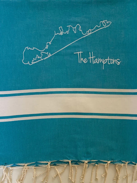 Hamptons Embroidered Bath & Beach Foutas