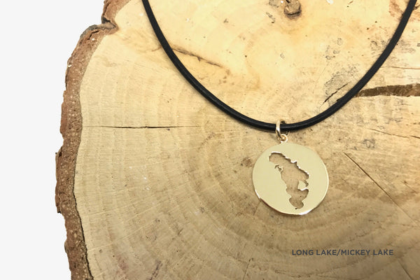 Leather Cord Round Medallion Necklace
