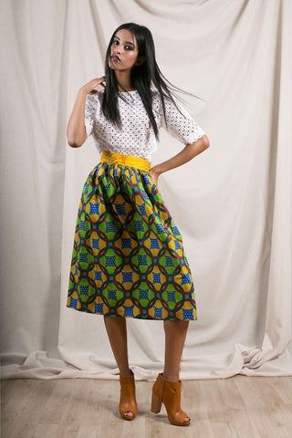 Ami Midi Full Skirt