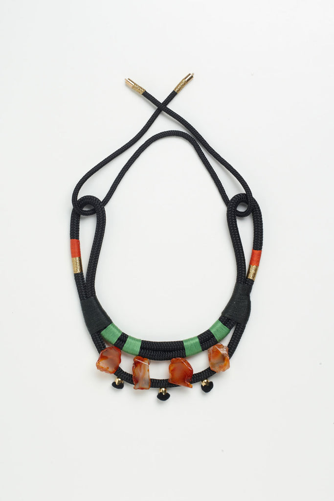 African Agate Mali Necklace