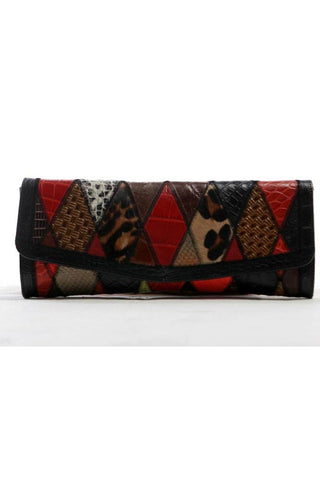 Harlequin Black Clutch