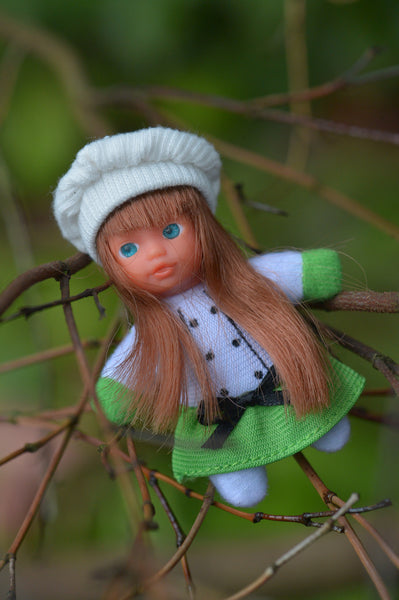 Check out our mini-beanie matchbox dolls!