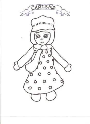 Carisa - Colouring Page